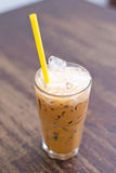 Thai iced tea with milk Stock Image