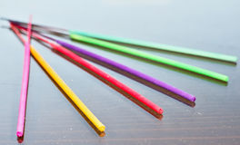 Thai incense sticks. Colorful Thai incense sticks to psychotherapy Stock Photography