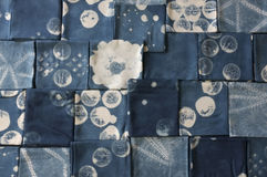 Thai indigo natural dye , Color shade and texture of fabric from blue indigo natural dye. Concept fashion stock photos