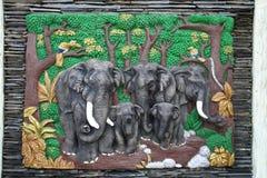 thai infödd stil för konststöpning royaltyfria bilder