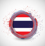 Thai ink circle flag illustration design Stock Photos