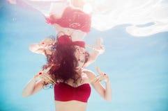 Thai Inspired Underwater Fashion Model Royalty Free Stock Image