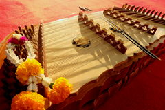 Thai instruments.they are on stage. Stock Image