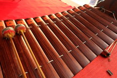 Thai instruments.they are on stage. Stock Images
