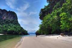 Thai Island, 2007. Detail of a Thailand Island with water and vegetation Royalty Free Stock Photography