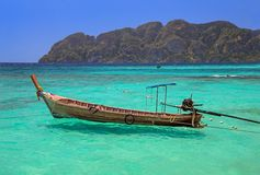 Thai island. Longtail Boat Royalty Free Stock Image