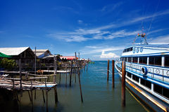 Thai island port Royalty Free Stock Images