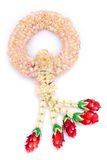 Thai jasmine garland isolated Stock Photo