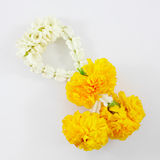 Thai jasmine and marigold garland Royalty Free Stock Image