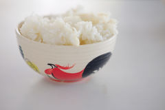Thai jasmine rice or white rice in bowl Stock Image