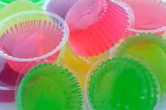 Thai jelly. Close up of colorful thai jelly ,it is a cool and delicious dessert Stock Photography