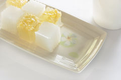 Thai jelly dessert Royalty Free Stock Photos