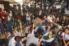 Thai journalists Stock Images