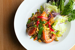 Thai Jumbo Shrimp Salad Royalty Free Stock Image
