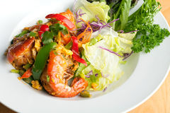Thai Jumbo Shrimp Salad Royalty Free Stock Photos
