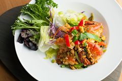 Thai Jumbo Shrimp Salad Royalty Free Stock Photo