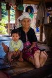 Thai karen hill tribe. In Maehongson, Thailand royalty free stock images