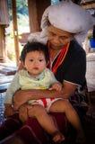 Thai karen hill tribe. In Maehongson, Thailand royalty free stock image