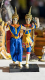 Thai Khon dancer figurines Royalty Free Stock Photo