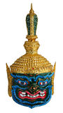Thai Khon head mask called Pipek Giant,Excellent knowledge of astrology. Stock Photo
