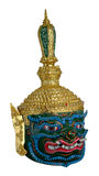 Thai Khon head mask called Pipek Giant,Excellent knowledge of astrology. Royalty Free Stock Image