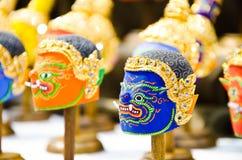 Thai khon mask. BANGKOK - MAY 3 : Khon, Native Thai style mask, use in royal performance at Art Fund on May 3, 2013 in Bangkok, Thailand stock photos