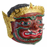 Thai Khon mask  Phra Pirap, The Giant Headmaster of performing arts . Royalty Free Stock Images