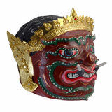 Thai Khon mask  Phra Pirap, The Giant Headmaster of performing arts . Stock Image