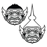Thai Khon Mask - Phra Ram Character From Trational Dance Drama Stock Image