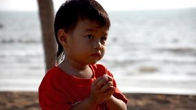 Thai kid portrait, close up