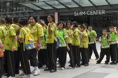 Thai kid at siam center Stock Photo