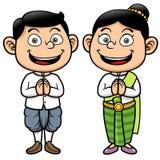 Thai kids. Vector illustration of Thai kids, Sawasdee Stock Photography