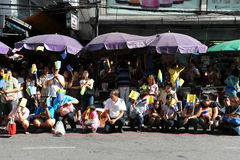 Thai King and Queens Motorcade Stock Photography