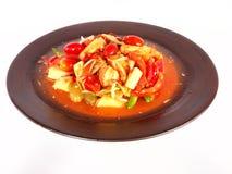 thai kokkonstfruktsallad Arkivfoton