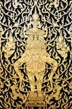 thai konstväggmålning Arkivbilder