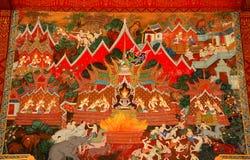 thai konstväggmålning Royaltyfri Fotografi