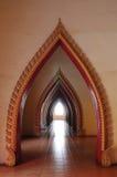thai korridortempel Royaltyfri Foto