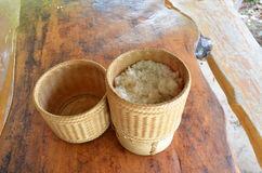Thai kratip the rice container Stock Photography