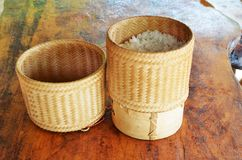 Thai kratip the sticky rice container Royalty Free Stock Images