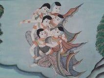 thai kultur i det gammalt Royaltyfri Fotografi