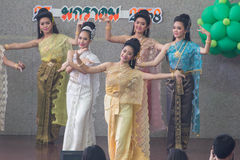 Thai lady culture dance Royalty Free Stock Images