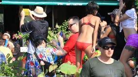 Thai lady dance show wiht traveler background Stock Photos