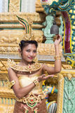 Thai lady. Dancer of the traditional Thai style Stock Image