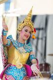 Thai lady executing traditional dance at the Thailand Grand festival Stock Photos