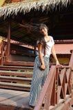 Thai lady flick hair Stock Photos