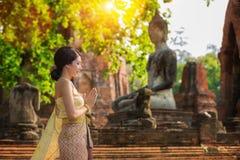 Thai lady with Original Thai costume royalty free stock image