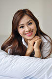 Thai lady relaxing Royalty Free Stock Photos