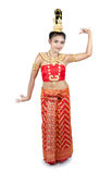 Thai lady in traditional costume Royalty Free Stock Photography