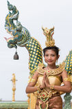 Thai lady in traditional pose Royalty Free Stock Images