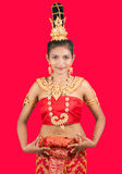 Thai lady in traditional pose Royalty Free Stock Photography